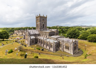 St Davids Cathedral in St Davids in Pembrokeshire, Wales, UK