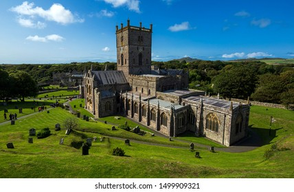 St David's Cathedral, Pembrokeshire, Wales, Great Britain, United Kingdom.