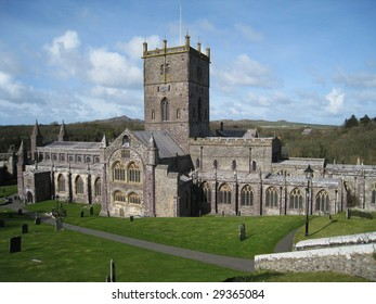 St Davids Cathedral, Pembrokeshire, west Wales
