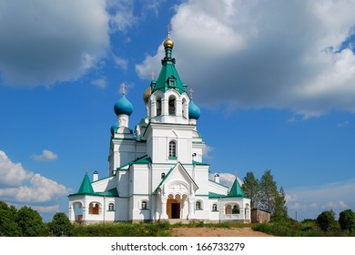 St. Demetrius orthodox church, Gorodnya, Novgorod region, Russia