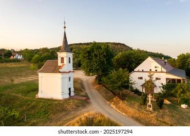 St Donat Chapel in Balatonlelle Hungary. This amazing place it has near by lake Balaton in Balatonboglar wine region. Built in 16th century by baroque style.