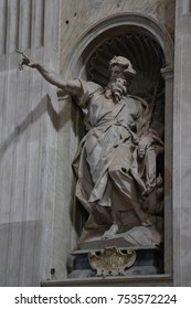 St. Elijah Statue, into the St Peter's Basilica, in Vatican city, Rome, Italy, Europe. Date of the picture: September 23, 2011