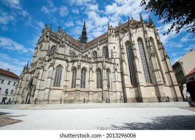 St. Elizabeth's Cathedral is the largest church in Slovakia with an interior area of 1,200 m² (built-up area or area of the plot with the building is 1,796 m²) and a capacity of more than 5,000 people - Shutterstock ID 2013296006