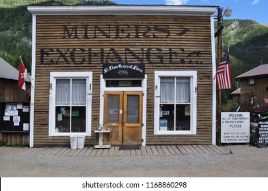 St. Elmo, Colorado - August 27: The former Miners Exchange Building now operates as the general store in the ghost town of St Elmo, Colorado August 27 2010