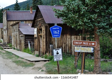 St. Elmo Ghost Street Scene with Directions Chaffee County Colorado