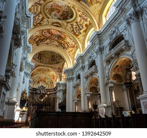 ST. FLORIAN/LINZ/ AUSTRIA MAY 2019 - Impressions and Detail Views of the Monastery St. Florian in Upper Austria, near Linz