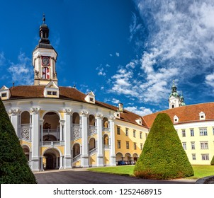 ST. FLORIAN/LINZ/ AUSTRIA OCT 2018 - Impressions and Detail Views of the Monastery St. Florian in Upper Austria, near Linz