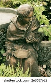 St. Francis Statue in a Texas Garden