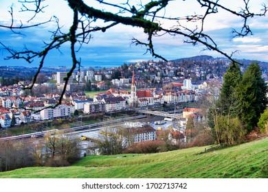 St. Gallen, Switzerland, 2020.03.09., A view over the city of St. Gallen