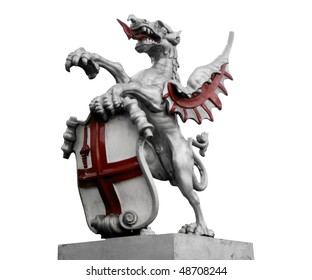 St George with the dragon, symbol of England and London