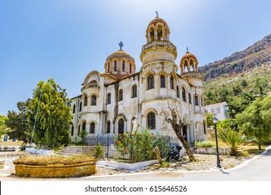 St George of Horafia Church view in Kastellorizo Island. Katellorizo is populer tourist destination in Greece.