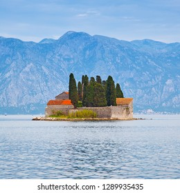 St. George Island in the Kotor Bay near Perast town in Montenegro