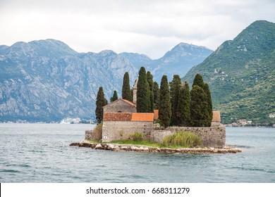 St George Island in Kotor Bay