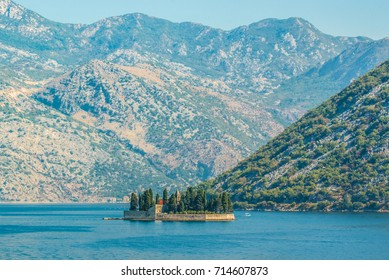 St. George Island in the Kotor Bay near Perast town, Montenegro
