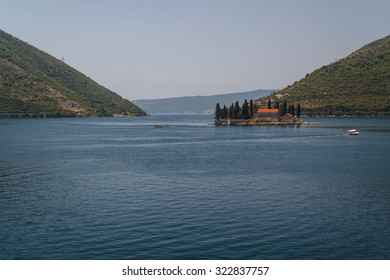 St. George monastery on the island in the Kotor bay, near Perast, Montenegro