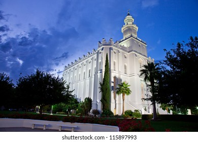St George Temple at Night