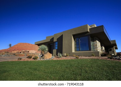 St George, Utah - February 22, 2017: A southwestern style home displayed on the annual Parade of Homes.