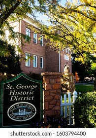St. George, Utah/USA – OCTOBER 22 2019: Dixie Academy opened in 1911 as a religious college and has evolved into Dixie State University.  It is now the home of a municipally funded children's museum.