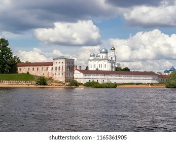 The St. George's (Yuriev) Monastery is usually cited as Russia's oldest monastery. It stands in south of Novgorod on left bank of Volkhov River near where it flows out of Lake Ilmen.
