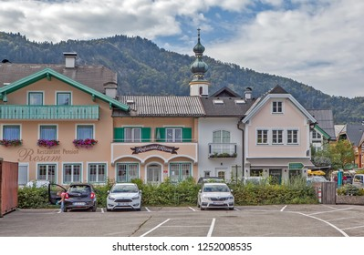 ST. GILGEN, AUSTRIA - SEPTEMBER 19, 2018: Photo of streets of the old city.
