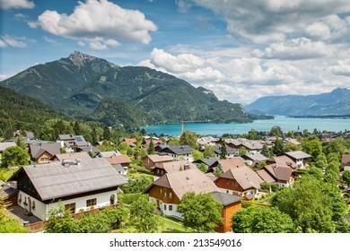 St Gilgen village at Wolfgangsee in Austrian Alps