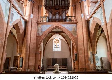 St. Goar, Germany - August 30, 2020: A church in St. Goar in Germany.