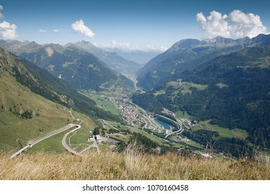 St. Gotthard pass street in the switzerland