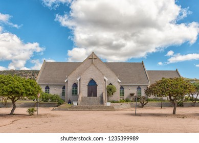 ST HELENA BAY, SOUTH AFRICA, AUGUST 21, 2018: The Dutch Reformed Church in St Helena Bay on the Atlantic Ocean Coast