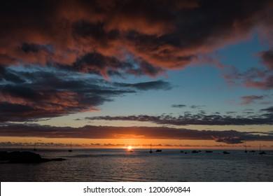 St Helena Island sunset