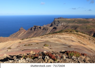 St Helena Island volcanic terrain afternoon light