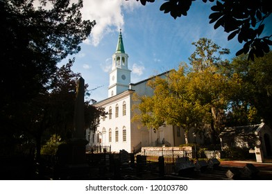 St Helena's Episcopal church in beaufort South Carolina. founded in 1712 and is oldest in the city.