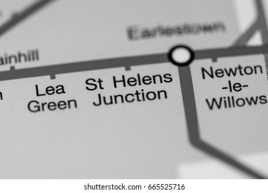 St. Helens Junction Station. Liverpool Metro map.