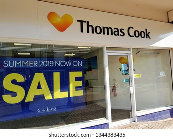 st Helens, Merseyside, UK 03/20/2019 Thomas Cook Travel Agent.
