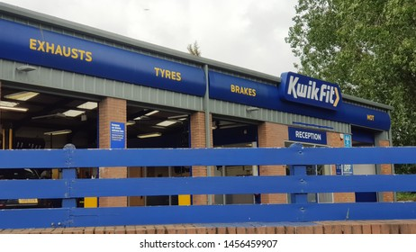 St Helens, Merseyside. UK. 07/20/2019 Kwik Fit branch owned and operated by Itochu