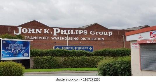 St Helens, UK August 2018 John K Philips site on Peasley Cross in St Helens