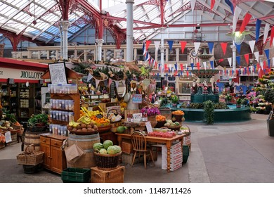 ST. HELLIER, JERSEY (UNITED KINGDOM) - AUGUST 03: The central market in St. Helier is a major attraction on Jersey.