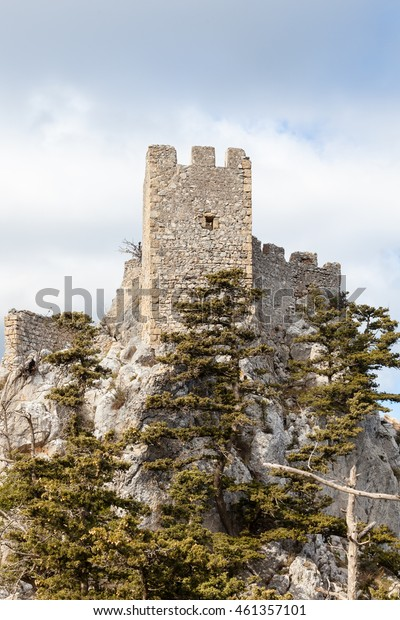 ST HILARION CASTLE, CYPRUS - JANUARY 27:  A view of St Hilarion Castle in the Kyrenia mountain range in the Turkish Republic of Northern Cyprus.  The medieval fortress is pictured on January 27, 2016.
