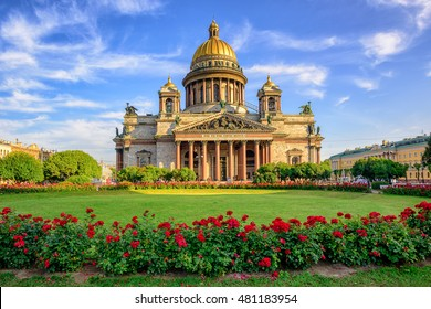 St Isaac cathedral in Saint Petersburg, Russia, is the biggest christian orthodox church in the world