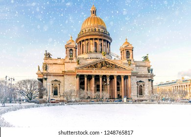 St. Isaac's Cathedral with St. Petersburg
