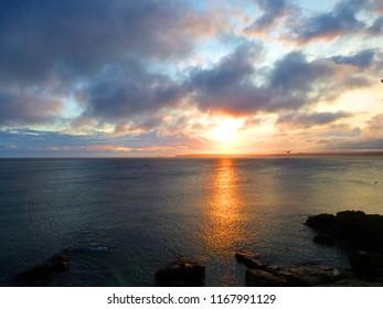 St Ives Bay Sunrise after storm