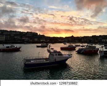 St Ives harbour, Cornwall, UK