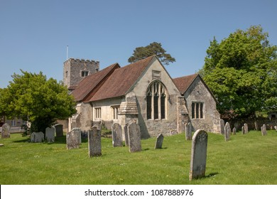 St James in the village of Southwick. A typical English church with old scattered grave stones in the churchyard.