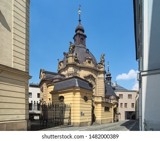 St Jan (John) Sarkander Chapel in Olomouc, Czech Republic. First chapel was built in 1673. In 1703-1724 it was replaced by new Baroque chapel. In 1909-1912 it was rebuilt in neo-Baroque style.