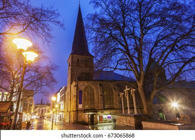 St. Johann Baptist Church in Essen. Essen, North Rhine-Westphalia, Germany.