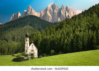 St. Johann in Val di Funes, South Tyrol, Italy