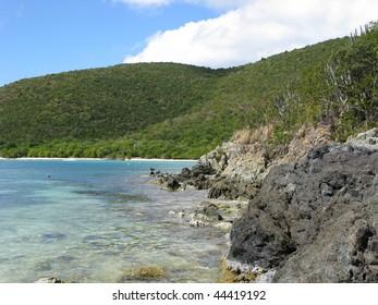 St. John Beach at Reef Bay