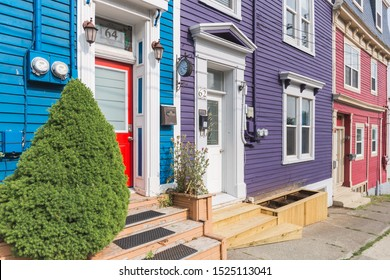 [St. John, Newfoundland - August 2019] Traditional house in St John's downtown, Newfoundland, Canada