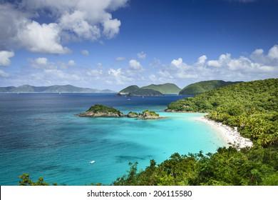 St. John, US Virgin Islands at Trunk Bay.