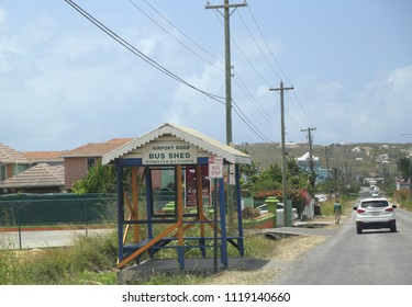 ST. JOHN'S, ANTIGUA AND BARBUDA - JUNE 14, 2018: On a streets of capital city St. John's in Antigua. St. John's is the capital and key port of the Caribbean island nation of Antigua and Barbuda.
