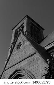 St John's Church in Darlington in Black and White